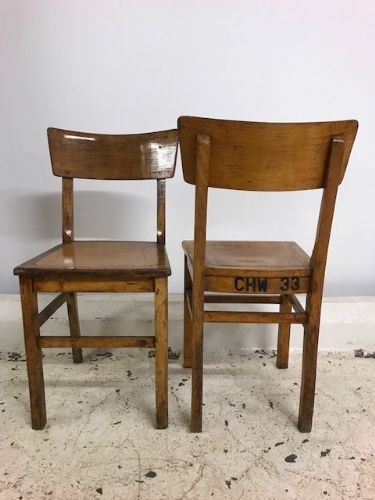 Lot (15)Vintage Chairs from Old Ostend Railway Station - CHECK FOR AVAILABILITY